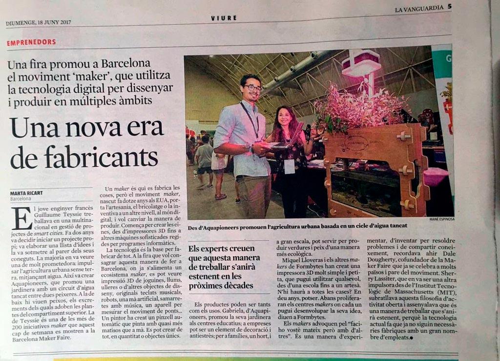 Artículo en La Vanguardia